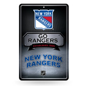 New York Rangers 11X17 Large Embossed Metal Wall Sign