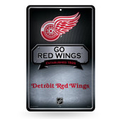 Detroit Red Wings 11X17 Large Embossed Metal Wall Sign