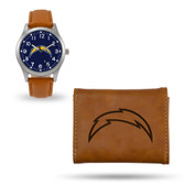 San Diego Chargers Sparo Brown Watch and Wallet Gift Set