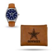 Dallas Cowboys Sparo Brown Watch and Wallet Gift Set