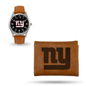 New York Giants Sparo Brown Watch and Wallet Gift Set