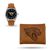 Jacksonville Jaguars Sparo Brown Watch and Wallet Gift Set