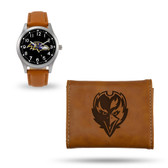 Baltimore Ravens Sparo Brown Watch and Wallet Gift Set