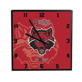 Arkansas State Red Wolves 3D Black Square Clock