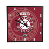 Alabama Crimson Tide 3D Black Square Clock