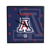 Arizona Wildcats 3D Black Square Clock