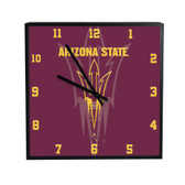 Arizona State Sun Devils 3D Black Square Clock