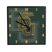 Baylor Bears 3D Black Square Clock