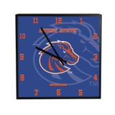 Boise State Broncos 3D Black Square Clock