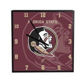 Florida State Seminoles 3D Black Square Clock
