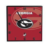 Georgia Bulldogs 3D Black Square Clock