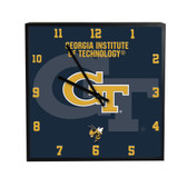 Georgia Tech Yellow Jackets 3D Black Square Clock