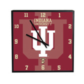 Indiana Hoosiers 3D Black Square Clock