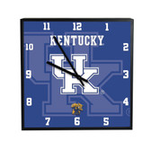 Kentucky Wildcats 3D Black Square Clock