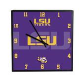 LSU Tigers 3D Black Square Clock