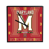 Maryland Terrapins 3D Black Square Clock