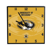 Missouri Tigers 3D Black Square Clock