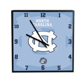 North Carolina Tar Heels 3D Black Square Clock