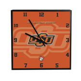 Oklahoma State Cowboys 3D Black Square Clock