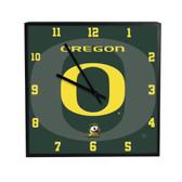 Oregon Ducks 3D Black Square Clock