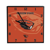 Oregon State Beavers 3D Black Square Clock