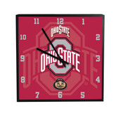 Ohio State Buckeyes 3D Black Square Clock