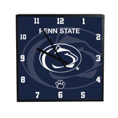 Penn State Nittany Lions 3D Black Square Clock