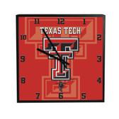 Texas Tech Red Raiders 3D Black Square Clock