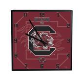 South Carolina Gamecocks 3D Black Square Clock
