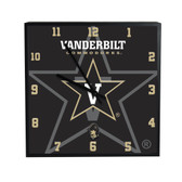 Vanderbilt Commodores 3D Black Square Clock