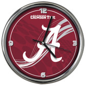 Alabama Crimson Tide 12 Dynamic  Chrome Clock