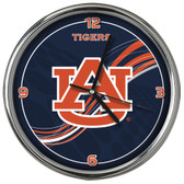 Auburn Tigers 12 Dynamic  Chrome Clock