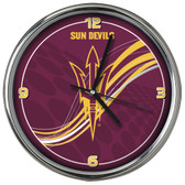 Arizona State Sun Devils 12 Dynamic  Chrome Clock