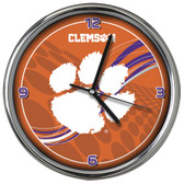 Clemson Tigers 12 Dynamic  Chrome Clock