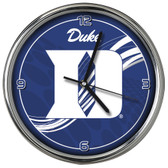 Duke Blue Devils 12 Dynamic  Chrome Clock