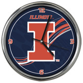 Illinois Fighting Illini 12 Dynamic  Chrome Clock