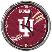 Indiana Hoosiers 12 Dynamic  Chrome Clock