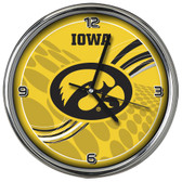 Iowa Hawkeyes 12 Dynamic  Chrome Clock