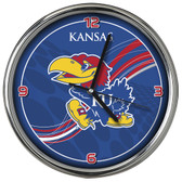 Kansas Jayhawks 12 Dynamic  Chrome Clock
