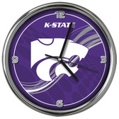 Kansas State Wildcats 12 Dynamic  Chrome Clock
