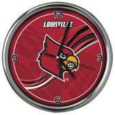 Louisville Cardinals 12 Dynamic  Chrome Clock