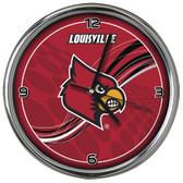 Louisville Cardinals 12 Dynamic  Chrome Clock