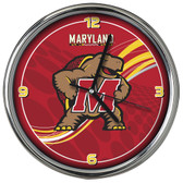 Maryland Terrapins 12 Dynamic  Chrome Clock