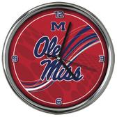 Ole Miss Rebels 12 Dynamic  Chrome Clock
