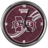 Mississippi State Bulldogs 12 Dynamic  Chrome Clock