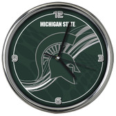 Michigan State Spartans 12 Dynamic  Chrome Clock