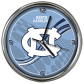 North Carolina Tar Heels 12 Dynamic  Chrome Clock