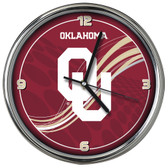 Oklahoma Sooners 12 Dynamic  Chrome Clock
