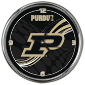 "Purdue Boilermakers 12"" Dynamic Chrome Clock"