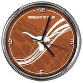 Texas Longhorns 12 Dynamic  Chrome Clock